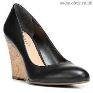Franco Sarto Black Wedges Size 8